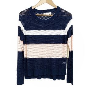 NWT RD STYLE Striped Arsenal Scoop Neck Sweater M